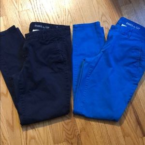 Bundle of 2 Gap skinny mini khakis